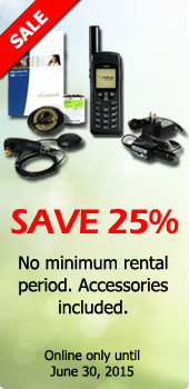 25% off Iridium Satellite Phone Rentals