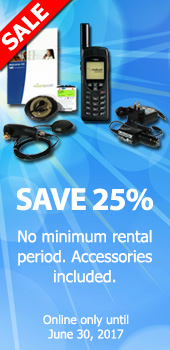 25% off Irdium phone rentals